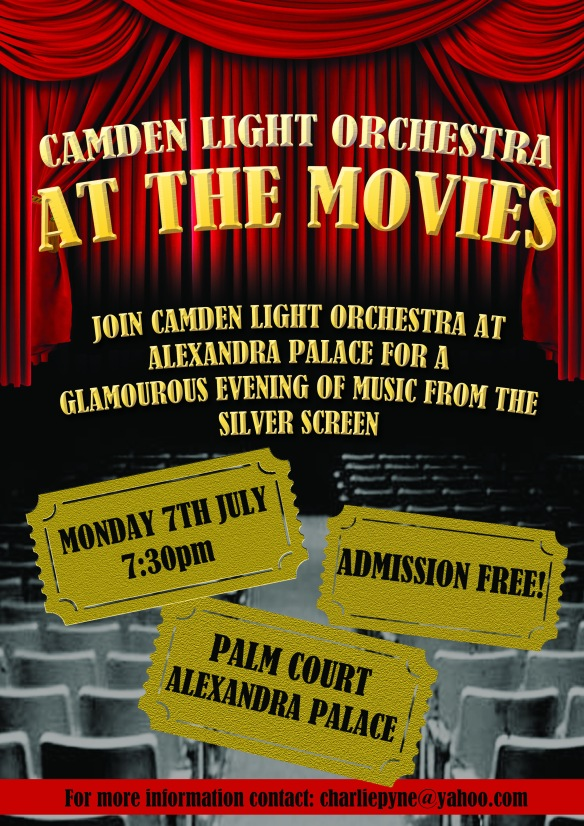 The poster for our concert at Alexandra Palace on 7th July 2014